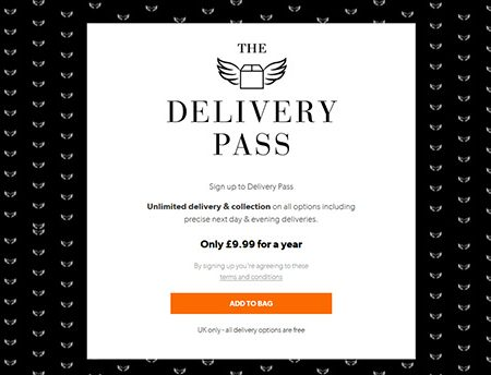 New Look Delivery Pass