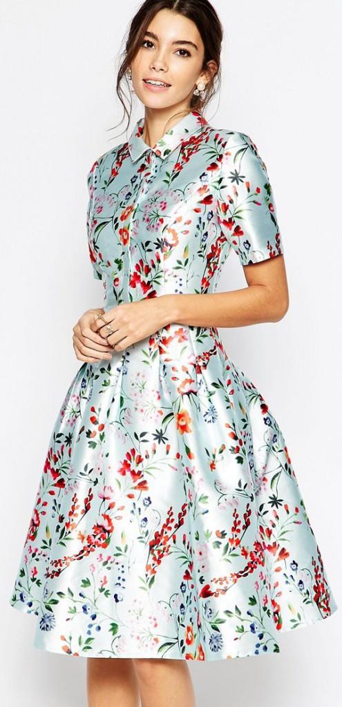asos Chi Chi London Midi Sateen Dress