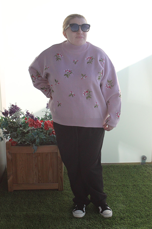 pink New Look sweater