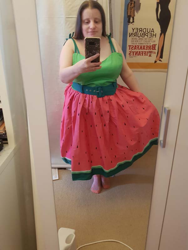 Collectif watermelon dress