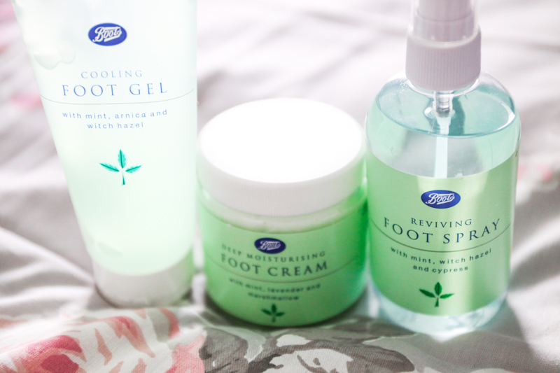 Boots foot care products